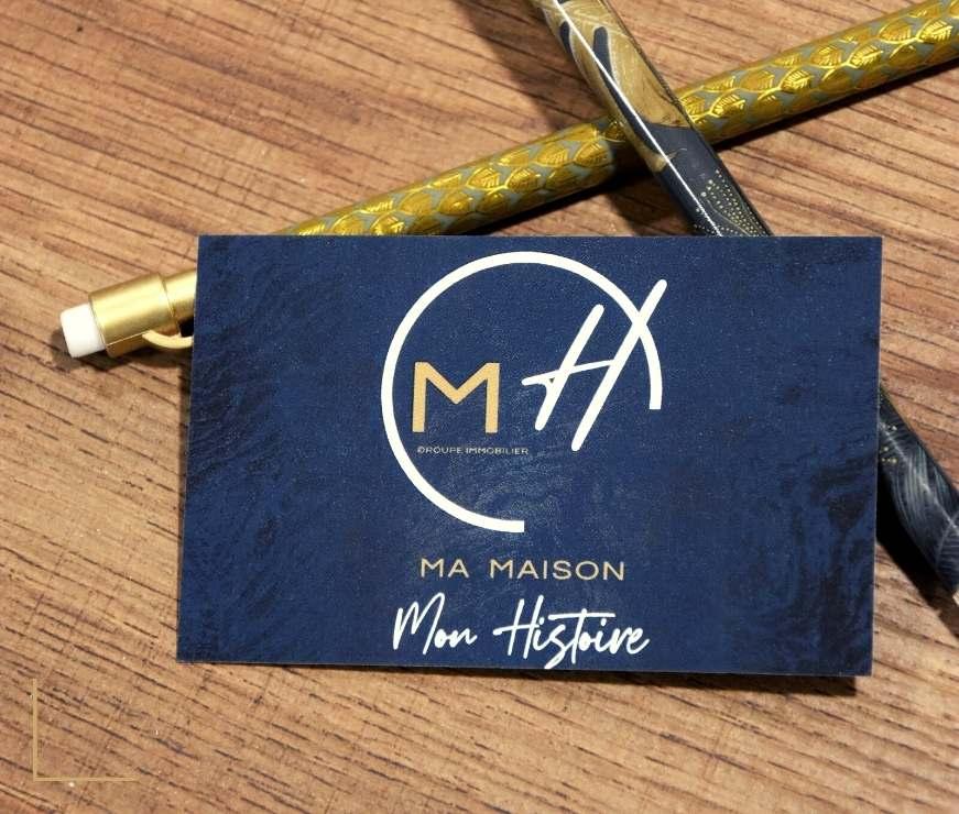 MH Immobilier - carte de visite - contact - agence immobilière - Chatillon sur Chalaronne